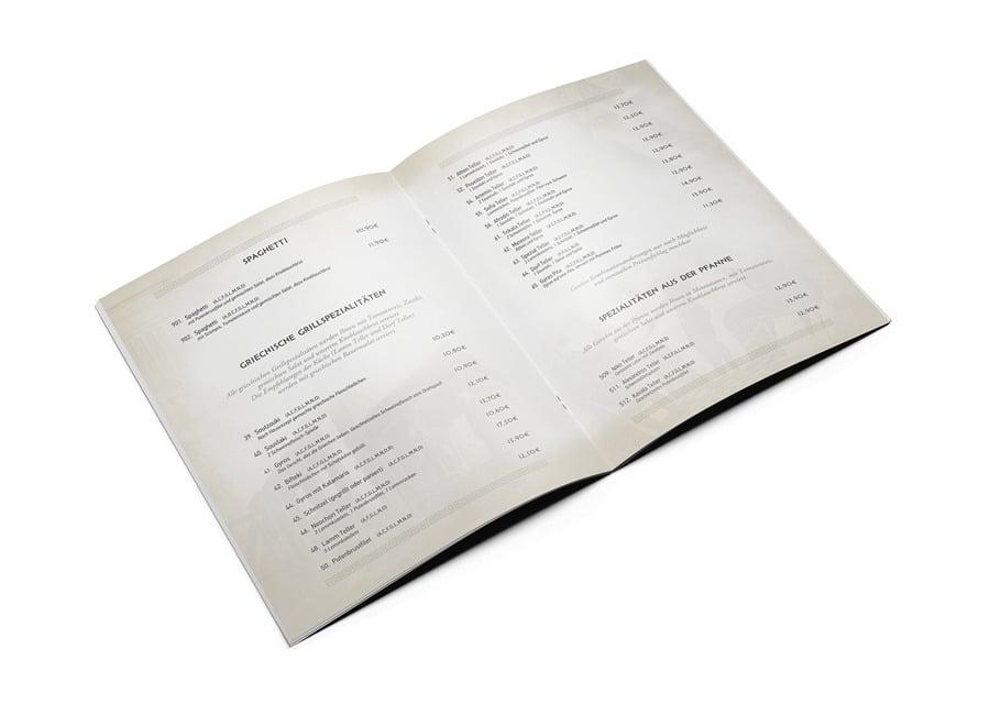 Booklet | Κατάλογοι Μενού